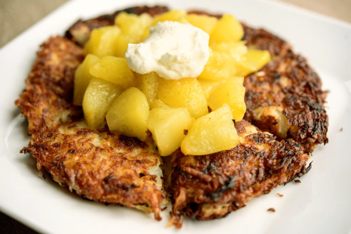 French Potato Pancakes with Apple Compote – Joan Nathan